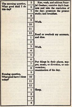 Ben Franklin Daily Planner