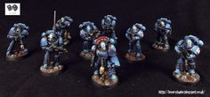 A Legion of Horrors. Night Lords Tactical Marines by forge world ~ LilLegend Commission Painting Studio