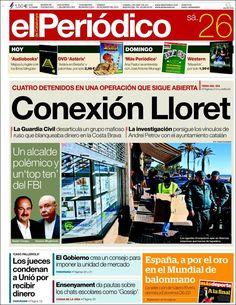 Los Titulares y Portadas de Noticias Destacadas Españolas del 26 de Enero de 2013 del Diario El Periódico ¿Que le parecio esta Portada de este Diario Español?