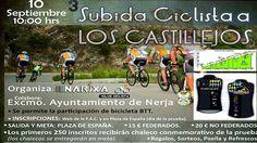 El Club Ciclista Narixa con la colaboración del Área de Deportes del Ayuntamiento de Nerja y distintas empresas colaboradoras, ha organizado para el próximo 10 de septiembre a las 10 de la mañana la Tercera Subida a los Castillejos.   #inscripcion #subida a los castillejos
