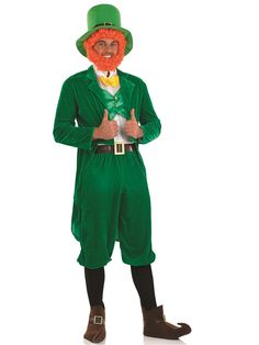 Men's Fancy Dress Costumes- From Superhero, Pirate, historical, decades and beyond. Our Fancy Dress range includes laugh-out-loud funny costumes sure to get a rise, and best of all our Men's Costumes are at very cheap prices. St Patrick's Day Costumes, Funny Costumes, Girl Costumes, Adult Costumes, Costumes For Women, Costume Ideas, Halloween Costumes, Leprechaun Girl