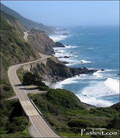 Carmel California.  One of the most scenic rides.  You can see whales, dolphins, and seals  as you drive next to the coast.  PCH 1