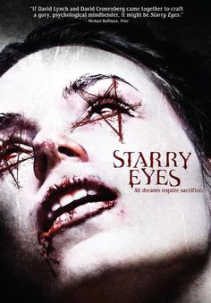 Kevin Kolsch and Dennis Widmyer's Starry Eyes (2014) releases on Digital Download, Blu-ray and DVD on February 3, 2015. The Blu-ray cover art looks very disturbing and unnerving. Are you ready to see what happens to this young actress as she tries to become a movie star? Starring in Starry Eyes (2014) are Alex Essoe, Amanda Fuller and Noah Segan.