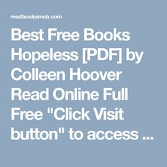 Hopeless pdf colleen hoover ebooks download pinterest colleen best free books hopeless pdf by colleen hoover read online full free click more information fandeluxe Gallery