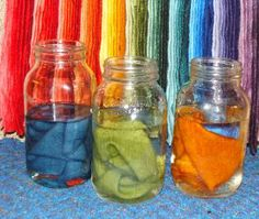 Easy Color Wheel Wool Dyeing    The Wooly Mason Jar website.