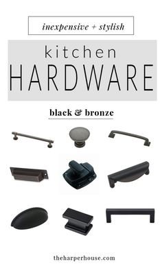 where to buy affordable kitchen hardware knobs and pulls, farmhouse style kitchen cabinet hardware for cheap, cheap oil rubbed bronze and black  cabinet pulls & knobs, | theharperhouse.com