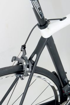 If you want to pick out a Cervelo in a line up, look for the pencil thin seat stays. These help to absorb road buzz, a big part of the enviable comfort. Bike Frame, Fashion Books, Bicycles, Cycling, Frames, Pencil, Australia, Black And White, Big