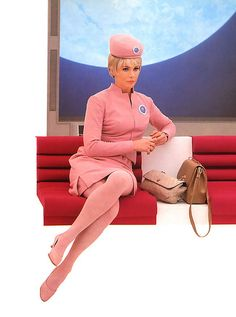 1968 in powdered pink uniform