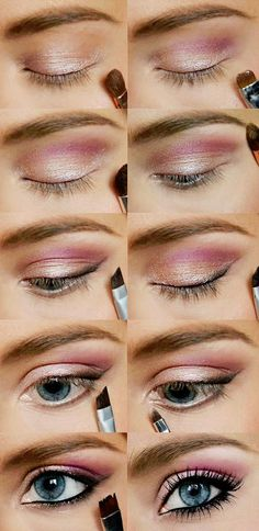 Pink  Gold Eye Makeup