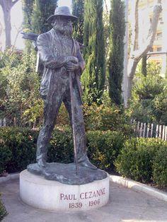 La statue de P. Cezanne à Aix-en-Provence - www.aixenprovencetourism.com