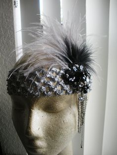 Way cute feather headband for Roaring 20's party