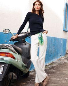 Bianca Balti, Italian Women Style, Italian Fashion, Over 50 Womens Fashion, Girl Fashion, Fashion Outfits, Capsule Wardrobe, Business Outfit Frau, Marlene Hose