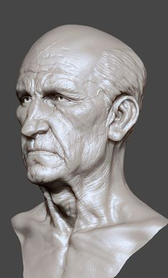 Zbrush face old by ~mojette on deviantART
