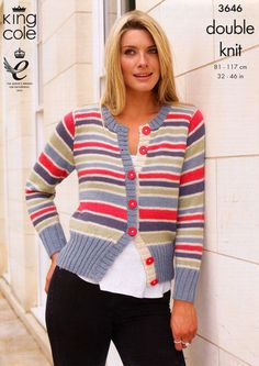 Sweater and Cardigan in King Cole Baby Alpaca DK (3646)   Deramores