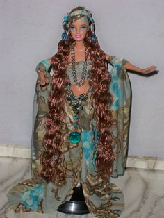 OOAK Turquoise and Green Gypsy Fantasy Barbie Doll