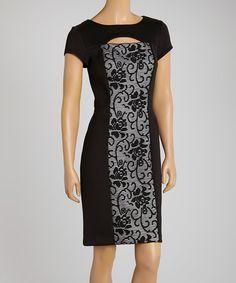 Another great find on #zulily! Black Lace Sheath Dress - Women & Plus by Sandra Darren #zulilyfinds