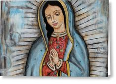 Our Lady Of Guadalupe Greeting Card by Rain Ririn Hail Holy Queen, Princess Zelda, Disney Princess, Our Lady, Disney Characters, Fictional Characters, Aurora Sleeping Beauty, Rain, Greeting Cards