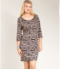 ⚡LAST ONE ️Scroll Print Shift Dress⚡️ Attention all fashionistas!!! This dress is for you! Stylish, yet comfortable! Don't miss out! Dresses
