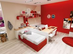 Super-Colorful Bedroom Ideas for Kids and Teens Can Be Fun for Everyone nice The wood room across from it's the library. The biggest room may be used as the principal living space, with a fire place, a whole lot of couches and . Small Room Bedroom, Bedroom Colors, Bedroom Sets, Girls Bedroom, Bedroom Decor, Room Partition Designs, Cool Kids Rooms, Shared Rooms, Kids Room Design