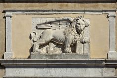 il leone di San Marco, Chioggia Republic Of Venice, The Republic, Stone Lion, Leone, Moose Art, Lion Sculpture, Italy, War, Statue