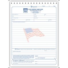 Printable Blank Bid Proposal Forms  Free Job Proposal Forms