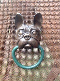 French Bulldog doorknocker