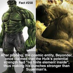 want to post this on every Hulk v Superman forum post. Marvel Facts, Hulk Marvel, Marvel Memes, Marvel Dc Comics, Ms Marvel, Captain Marvel, Marvel Funny, Comic Book Characters, Marvel Characters
