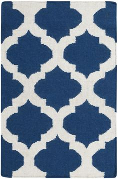 Surya FT84 Frontier Blue Rectangle Area Rug