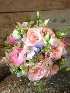 #bruidsboeket#veldbloemen#pastelkleuren#