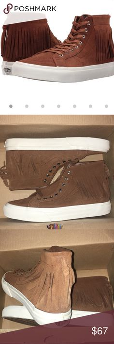 Sk8 hi mocasín suede Suede mocassin Vans skate high vans brown and white. Vans Shoes Sneakers