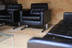Authentic chrome and vinyl lounge suite