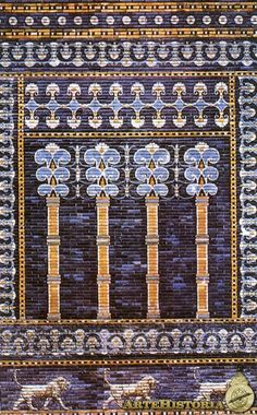 **TÉCNICAS DE MODELADO ::: Decoración Cerámica Vidriada SIN COCER, Sala del Trono en el Palacio Real de BABILONIA - Se mantiene en perfecto estado dado a la sequedad del clima