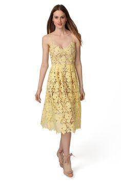 valentina novelty lace midi dress blossom yellow main.
