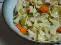 30 Minute Chicken Noodle Soup-I used orzo instead of noodles and Costco ready-made chicken.