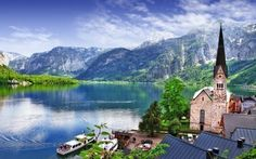 Although, it has been declared as a UNESCO World Heritage Site, the beauty of Hallstatt, Austria is still a secret for most of the travelers. Lake District, Places Around The World, Around The Worlds, Wallpaper World, Windows Wallpaper, Nature Wallpaper, Hd Wallpaper, Wallpapers, Top Europe Destinations