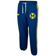 Adidas University of Michigan Fleece Track Pants.