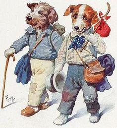 Vintage dog art