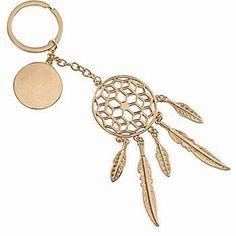 Gold Boho Dream Catcher Key Chain