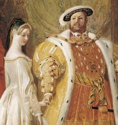 Detail from Henry VIII's First Interview with Anne Boleyn by Daniel Maclise, c.1835