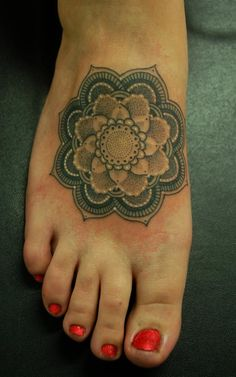Mandala On Foot tattoo