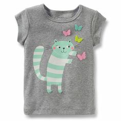 Butterfly and Kitty Tee (Carter's 0-24m)