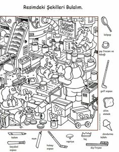 english lessons for kids activities Hidden Picture Games, Hidden Picture Puzzles, Hidden Games, Learning English For Kids, English Lessons For Kids, French Lessons, Colouring Pages, Coloring Pages For Kids, Coloring Books