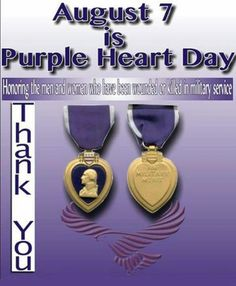 August 7 Is Purple Heart Day Honoring The Men And Women Who Have Been Wounded Or Killed In Military Service Thank You Purple Heart Day, Purple Day, Shades Of Purple, American Veterans, Purple Christmas, Support Our Troops, Lavender Blue, Military Service, Gold Stars