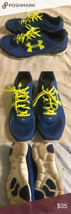 Men's under armour tennis shoes Blue and green. Under Armour Shoes Athletic Shoes
