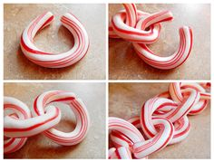 Photo illustrated step by step instructions on how to make your own edible garland. It's a super cute Christmas decoration! Candy Cane Decorations, Cute Christmas Decorations, Candy Cane Crafts, Christmas Candy, Diy Christmas Gifts, Holiday Crafts, Holiday Fun, Christmas Holidays, Christmas Ideas
