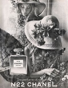"""Storytelling: High end makeup brands put a lot of effort in to their advertisements. Their words and rich imagery tell a story about the kind of people that may use their products. In this ad, the tagline """"the perfume of romance"""" insinuates that these women will acquire a romantic relationship by wearing Chanel perfume. Their elaborate wardrobe and soft floral aesthetic promotes an idea of femininity that tells the audience about the kind of women they may be."""