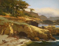 Hidden Cove, Pt Lobos by Brian Blood Oil ~ 11 x 14
