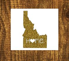 GLITTER Idaho Home Decal  Idaho State Decal  by MMVinylCreations