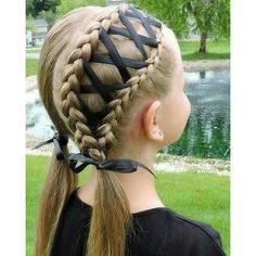Hair Styles 2018 Braided hairstyles for children with instructions … - Frisuren Cool Braid Hairstyles, Funky Hairstyles, Little Girl Hairstyles, Children Hairstyles, Elegant Hairstyles, Beautiful Hairstyles, Prom Hairstyles, Hairdos, Halloween Hairstyles