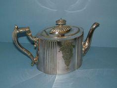 Victorian EPBM Britannia Metal Teapot by James Dixon Vintage Teapot Vintage Serving Vintage Kitchen Vintage Table Vintage Housewares on Etsy, $65.00